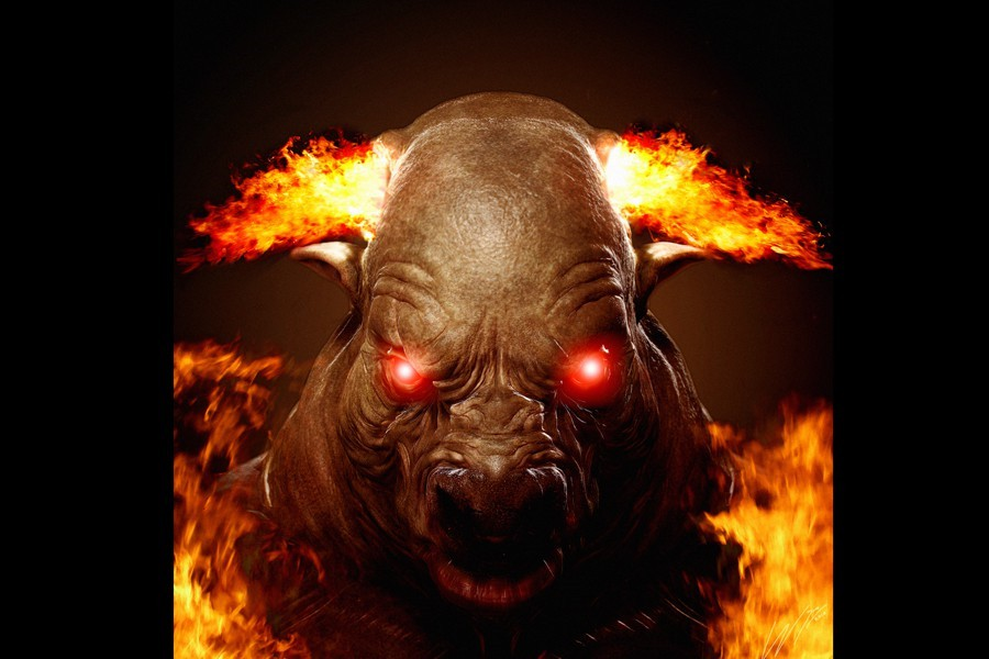 FireBull (used as cover of my album 'Inferno of Bulllshit')
