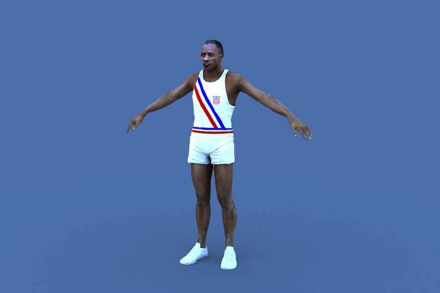 Jesse Owens Digital Double from the London 2012 olympics opening ceremony